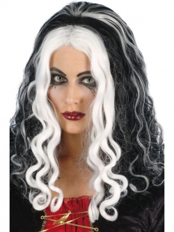Witch Queen Wig - Black and White