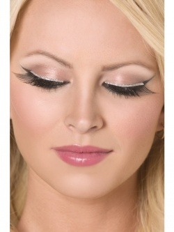 Glitter Eyelashes Black and Silver